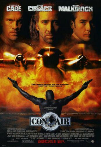 "Movie Silk Fabric Poster Nicolas Cage 11/""x17/"" 24/""x36/"" Con Air 1997"