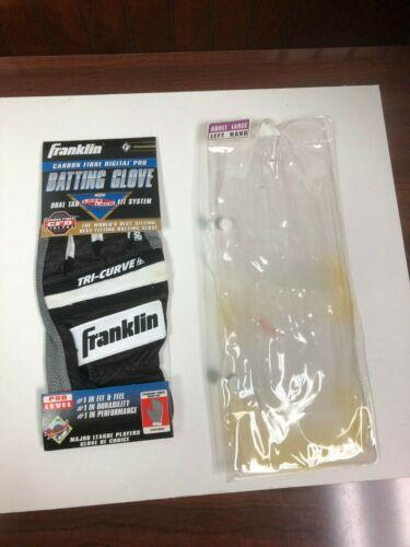 Large FRANKLIN CARBON FIBRE DIGITAL PRO BATTING GLOVES TRI-CURVE Left Hand