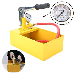 Befuellpumpe-25bar-Pruefpumpe-Testpumpe-Heizung-Solar-Handpumpe-Pruefwerkzeug
