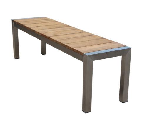 Gartenbank 2 Sitzer 180x44x38cm Teakholz Gartenmöbel Sitzbank Outdoor Terrasse