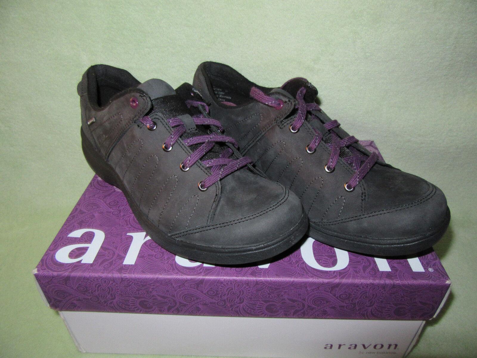 Aravon by New Balance Revsavor 8 Black Leather Upper WaterProof Tennis Shoes