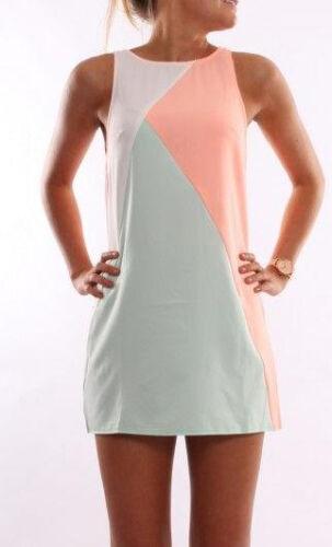Damen Sommerkleid Party Strand Minikleid Tunika Longshirt Blusen Tops Übergröße
