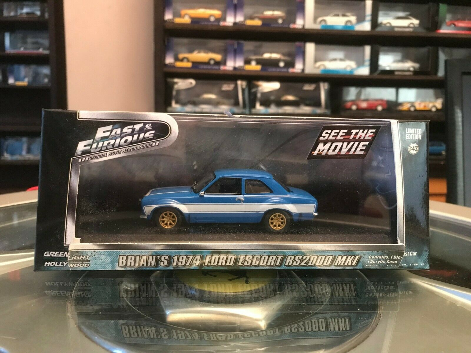Greenlight Fast And And And Furious Brian`s 1974 Ford Escort RS2000 Mk1 1 43 Ltd Ed MIB e0aa99