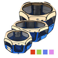 Dog Pet Playpen Puppy Soft Exercise Play Pen Fence Folding Crate Kennel Colorful