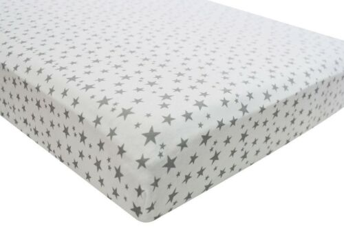 Cot Bed Midnight Grey 100/% Cotton Jersey Fitted Sheet 70x140cm