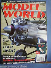 RCMW RC MODEL WORLD NOVEMBER 2003 CUTLASS PLANS EURO SPORT X MODEL X RAY