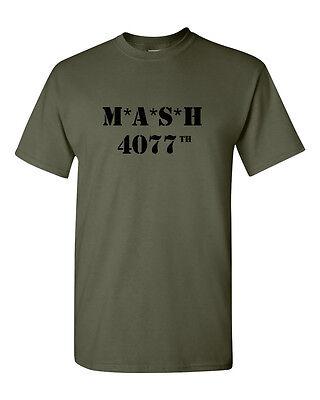 A H combat Gildan tee S Mash 4077th armée militaire vert T SHIRT M