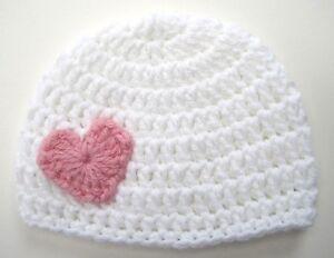 Girl/'s Heart Pink Hat ToddlerChild Crochet Girl Hat Beanie Cap Child size Crochet Winter Hat Photo Prop