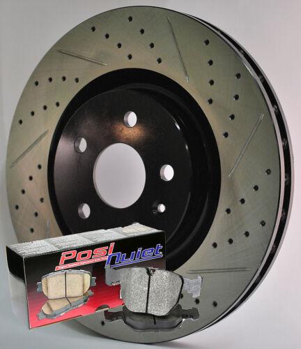 06-08 VW Passat 2.0T Cross Drilled Slotted Brake Rotors Brake Premium Pads F+R