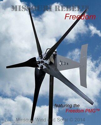 Missouri Rebel Freedom 12 volt 1700 watts max 5 blade wind turbine generator