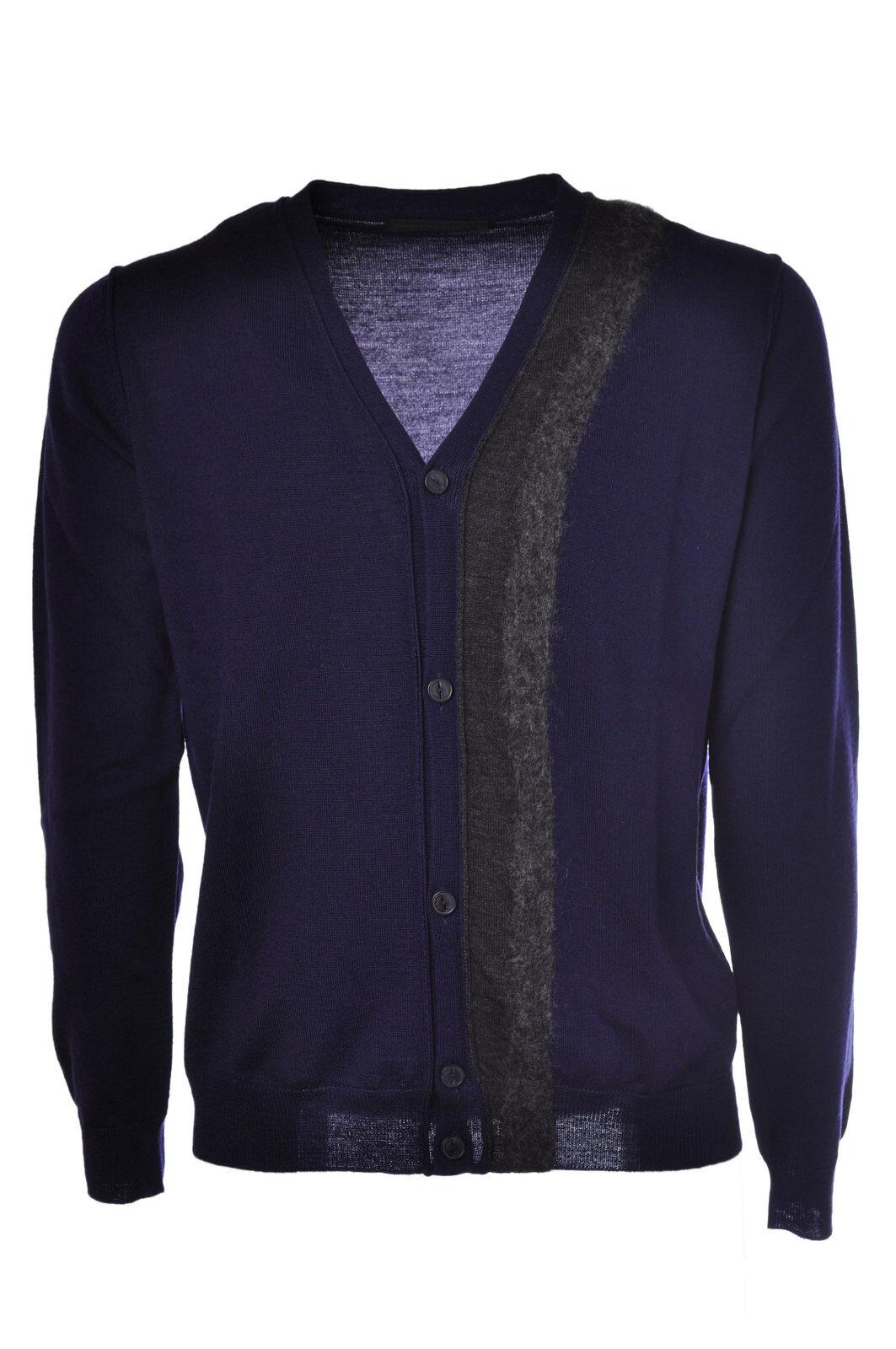Daniele Alessandrini - Knitwear-Cardigan - Man - Blau - 463815C184924