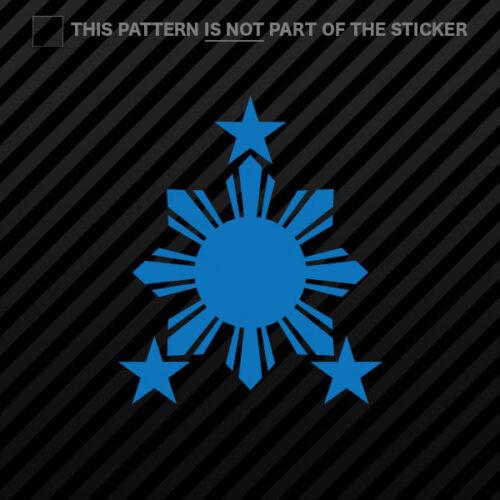 2x Philippines Sun Sticker Self Adhesive Vinyl #2 stars filipino