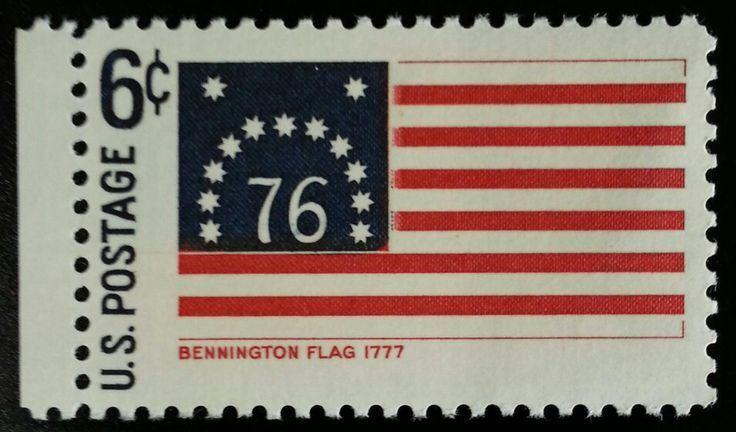 1968 6c Battle of Bennington, Historic American Flag Sc