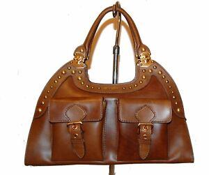 Miu Miu Women s Brown Bag Purse Satchel Top Handle Leather AUTHENTIC ... 18529aeacd