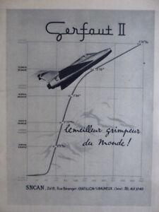 1957-PUB-SNCAN-CHASSEUR-GERFAUT-II-EVEREST-MONT-BLANC-ORIGINAL-FRENCH-AD