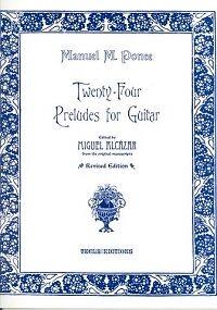 Brillant Ponce Préludes (24) Alcazar Guitare-afficher Le Titre D'origine