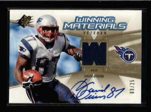 DAVID-GIVENS-2006-SPX-VETERAN-GAME-USED-JERSEY-AUTOGRAPH-AUTO-09-25-AX7486