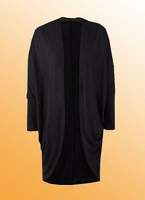 Black Fitted Elbow Length Stretch WingZ Shrug UK size 6 8 10 12 14 16  Wingz043