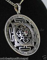 Amulett Silber Nepal Dharma Classe Amuleto Mandala Lama Buddha Buddhism 134g