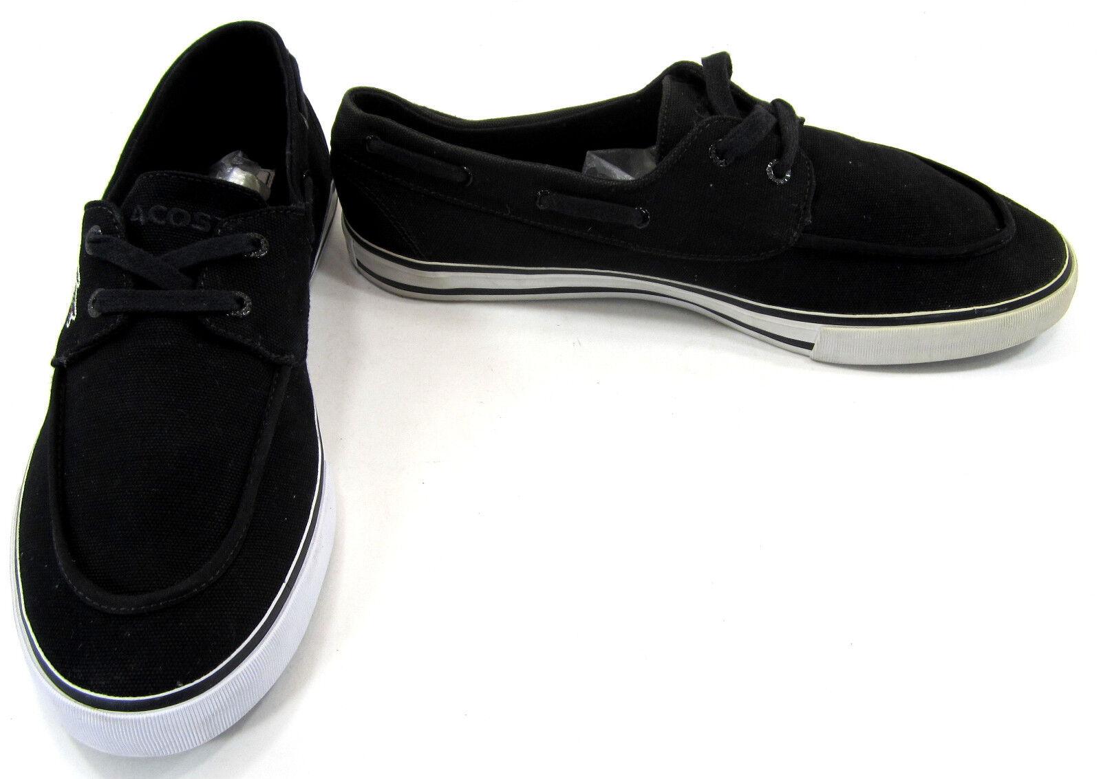 LaCoste Boat scarpe Bateau Lo Canvas  nero  bianca Topsiders Dimensione 10.5  migliori prezzi e stili più freschi