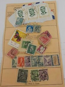 Page of Mail Order Stamps and Others From Garcelon Stamp Co