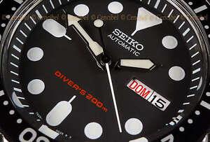 Seiko-SKX007K1-Japan-diver-039-s-200M-automatic-rubber-strap-SKX007-Correa-de-caucho