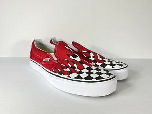 Vans Classic Slip-On Checkerboard Flame
