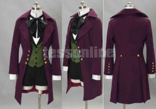 Neu Black Butler II 2 Alois Trancy Cosplay Kostüm Anime Garment Kleidung Lila