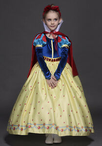 Girls disney princess snow white costume kids cosplay pretend party