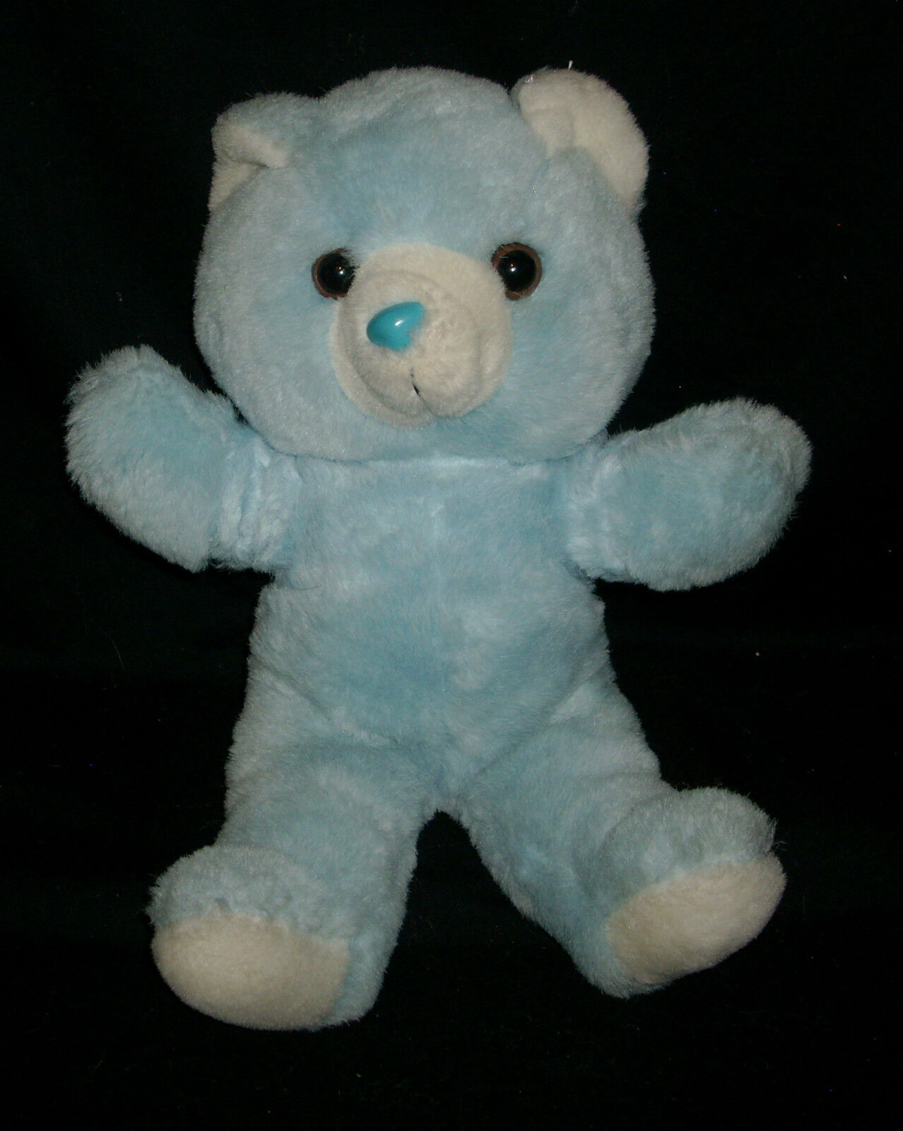 16  BIG VINTAGE 1988 FAIRVIEW BABY BOY blueE TEDDY BEAR STUFFED ANIMAL PLUSH TOY