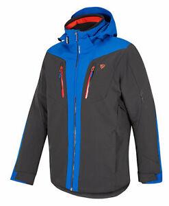Ziener-Herren-Wintersport-Skijacke-Ski-Jacke-Winterjacke-TWOMILE-man-grau-blau