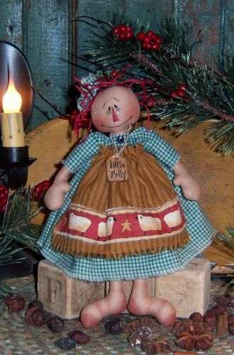 Primitive Patti's Ratties Raggedy Ann Little Molly Doll Paper Pattern #255