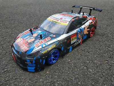 Nissan Gtr Manga 1:10 Drift Rtr Rc-car Pacchetto Completo Tamiya Tt-02 Xb Di Guida Pronto!-