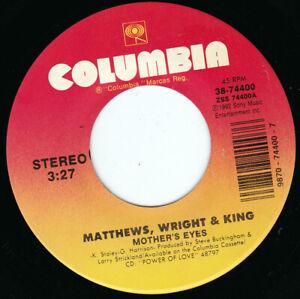 """MATTHEWS WRIGHT & KING - Mother's Eyes 7"""" 45"""
