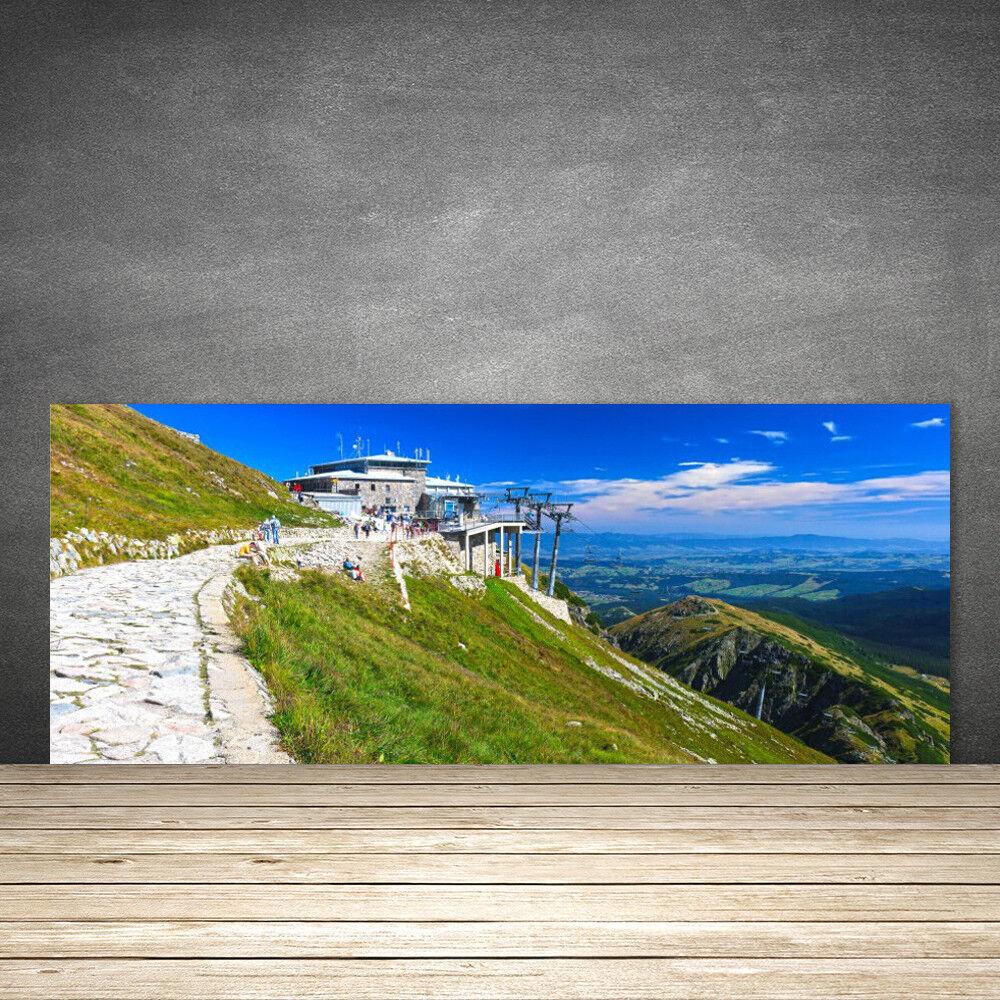 Crédence de cuisine en verre Panneau 125x50 Paysage Montagnes Chemin