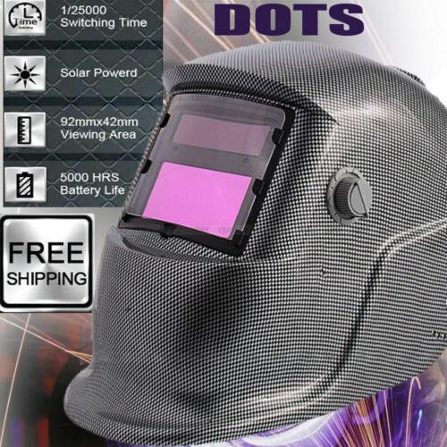 Face Mask Auto Darkening Welding Helmet Welders Lens Mode Solar Powered Grinding