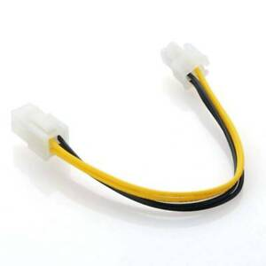 1pc 4 pin to 4 Pin 12V ATX Power CPU Supply P4 Extension Cable//Adapter Connector