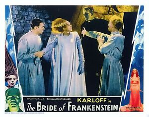 1935 THE BRIDE OF FRANKENSTEIN MOVIE POSTER 8x10 classic PHOTO 1  !!!