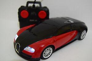 bugatti veyron radio tÉlÉcommande voiture 1/16 rc miniature rouge