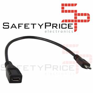 Cable-de-extension-alargador-Micro-USB-25cm-macho-hembra