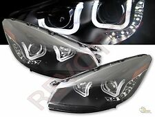 13 14 15 Ford Escape LED U Bar i8 Style Black Projector Headlights