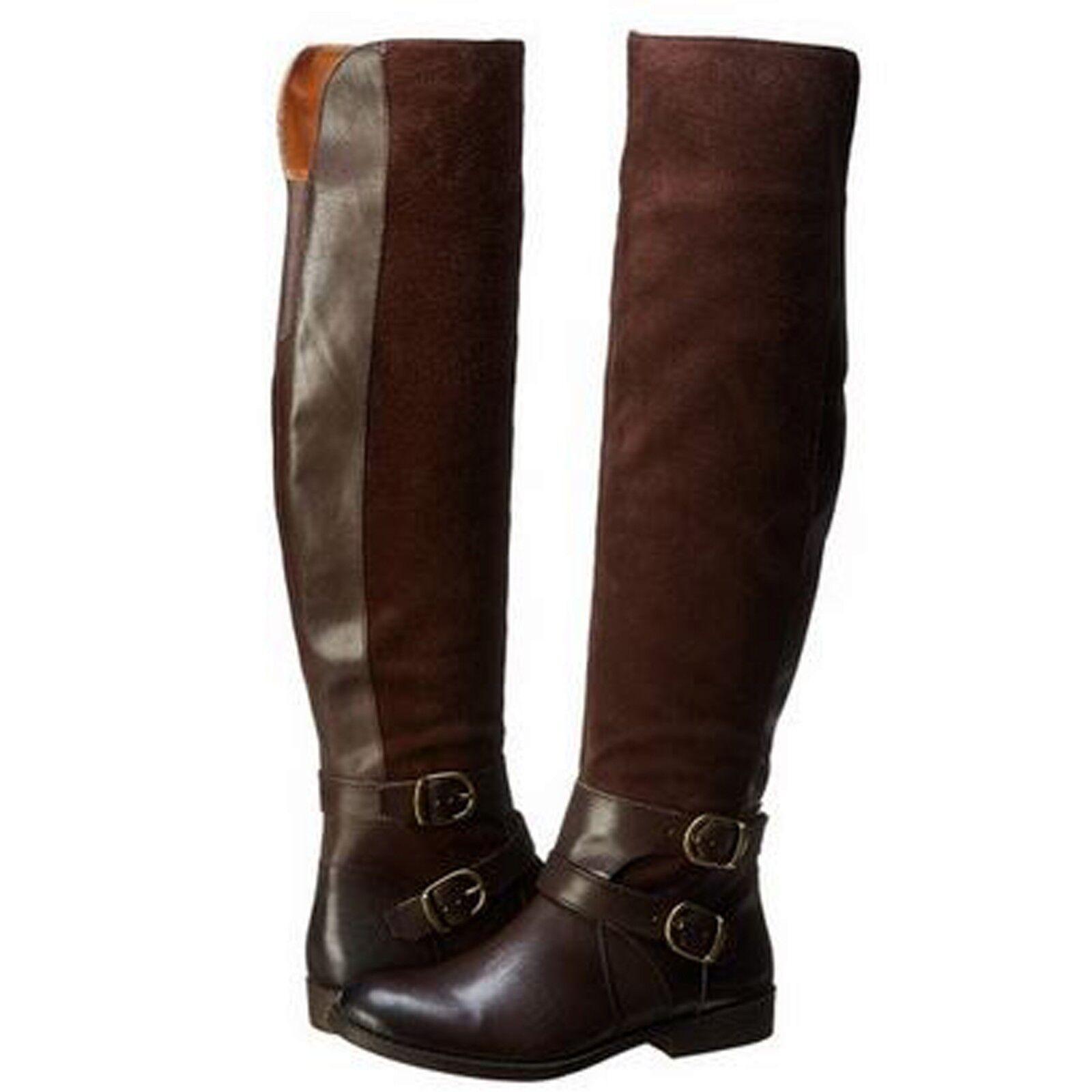 Lucky Brand Womens Zosha Side Zip Buckle Strap Tall Equestrian Riding Boots