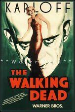 1932 THE MUMMY WITH BORIS KARLOFF VINTAGE HORROR MOVIE POSTER PRINT 24x16 9 MIL