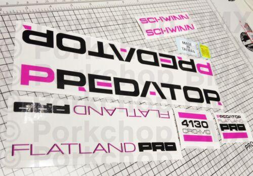 1989 Schwinn Predator Flatland PRO flat land old school BMX decal sticker set