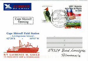 Polarpost USA: CAPE SHIRREFF OPENING - R/V LAURENCE M. GOULD - PTA.ARENAS - 2002