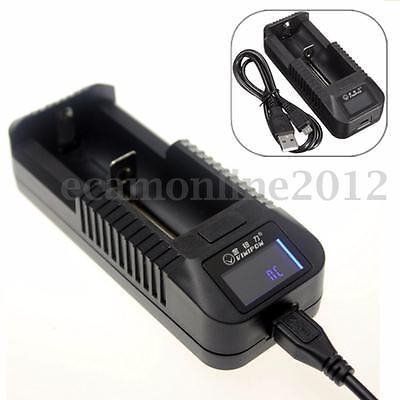 LCD Li-ion 26650 18650 16340 14500 AA AAA Universal Battery Charger Wall Dock