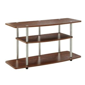 Convenience-Concepts-Designs2Go-3-Tier-Wide-TV-Stand-Cherry-131031CH