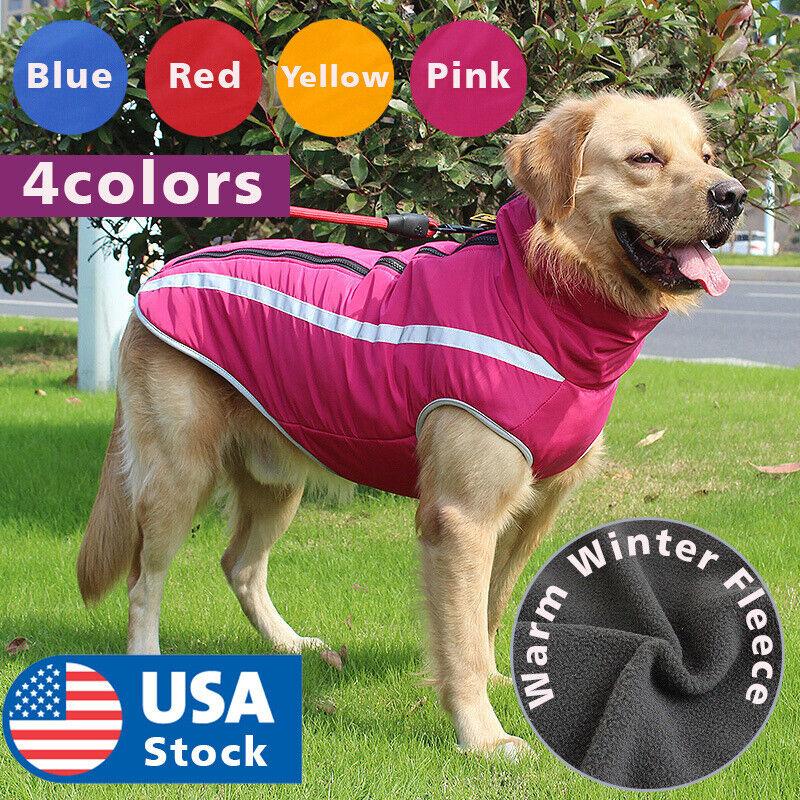 SCPET Dog Winter Coat Cozy Waterproof Windproof Vest Winter Coat Warm Dog Apparel Cold Weather Dog Jacket XS-3XL