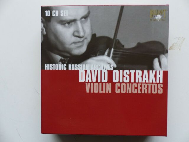 BOX CD David Oistrakh Violin Concertos HISTORIC RUSSIAN ARCHIVES Brilliant 92609