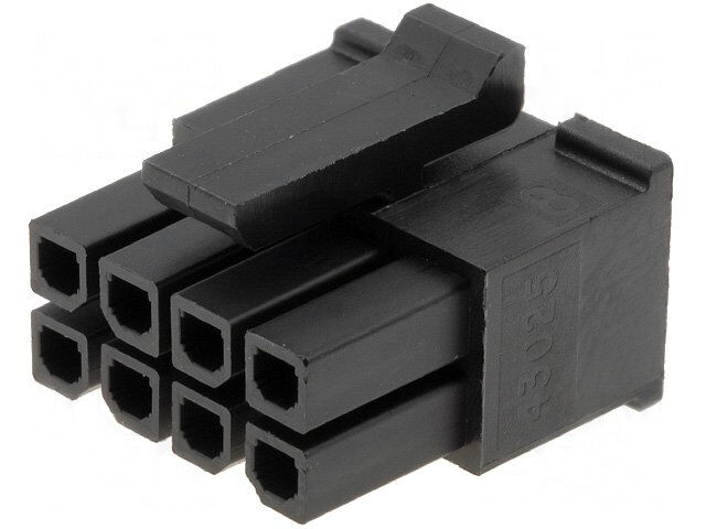 3 mm, 200875-0006 Pack of 100 Micro-Fit 3.0 TPA 200875 Series Connector Housing 6 Positions Plug